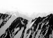 Glaciers flow out of the mountains of Denali National Park, Alaska
